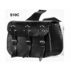 LEATHER SADDLEBAGS S10  *TO...