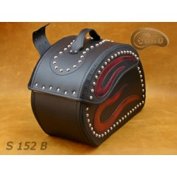 LEATHER SADDLEBAGS S152 RED