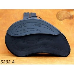 LEATHER SADDLEBAGS S202 A...