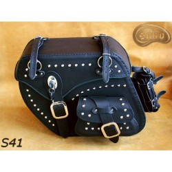 LEATHER SADDLEBAGS S41 *TO...