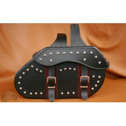 LEATHER SADDLEBAGS S07 RED