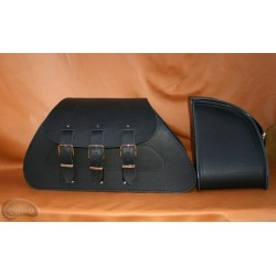 LEATHER SADDLEBAGS S71  *TO...