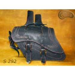 LEATHER SADDLEBAGS S292 *TO...