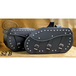 LEATHER SADDLEBAGS S02  *TO...
