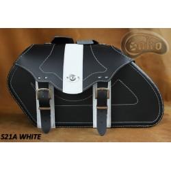 LEATHER SADDLEBAGS S21 WHITE